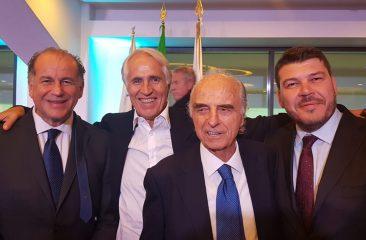 Lo sport italiano ha celebrato l'80° compleanno di Mario Pescante. Rossi: onorato di averlo avuto come Presidente e di averlo come amico
